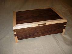 Walnut with Maple Trim keepsake box