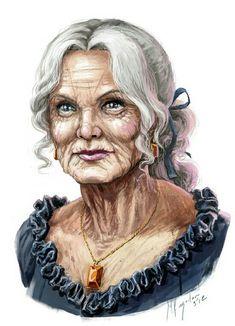 Old Woman - Pathfinder PFRPG DND D&D d20 fantasy
