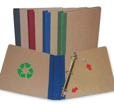Product:Binder  Company: http://green.ebay.com  -Recycled binders from #greenebay Everyone in college needs a binder! So buy one that is recycled! Very cool idea and is great to use for any class! #greendorm