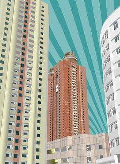 Illustrations – JSCQ Skyscraper, Multi Story Building, Graphics, Illustrations, Architecture, Drawings, Arquitetura, Skyscrapers, Graphic Design