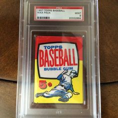 Would you open it or leave it sealed? I know I would leave it, but I would always wonder what's inside. Baseball Card Values, Baseball Cards, Ml B, Bubble Gum, Wax, Bubbles, Packing, Vintage, 1950s