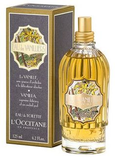 Eau de Vanilliers by L`Occitane en Provence is a sweet, powdery Floriental fragrance that features amber, musk, freesia, vanilla, jasmine, ylang-ylang and orchid flower. - Fragrantica <3<3<3<3<3