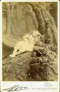 Postmortem portrait of a girl, ca.1900.