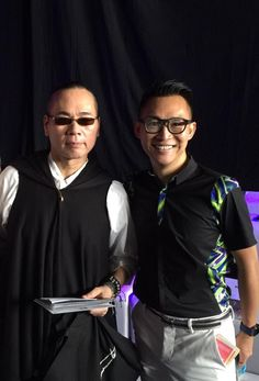 Very Talented fashion Designer Ben Yung for BYu designs and Ngan Luen Mo (Gary) just before Bens 2016 show