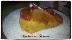 Torta di mele caramellate al limone