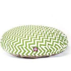 Majestic Pet Products Chevron Round Pet Bed, Sage, Green