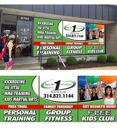 Large advertisement for front window of Health Club...Guaranteed prize! by designco1