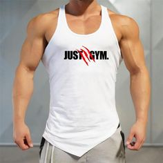 5e824bb0c8232c Men Bodybuilding Tank Tops Gyms Sleeveless Shirts Fitness