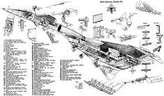 XB-70 Valkyrie cutaway