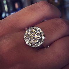 2 carat halo engagement ring with plain band