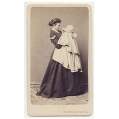 Beautiful Girl Mother Child Fine Dress Fashion CDV Photo 1860s | eBay