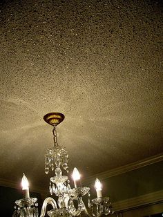 Glitter ceiling. doing this in my bedroom!!! One gallon of glue mixed with glitter - glue dries clear