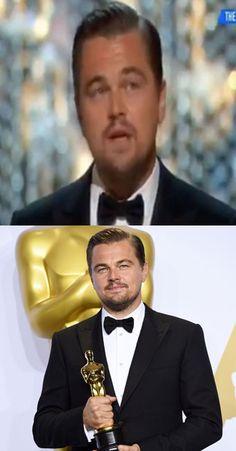 Leonardo DiCaprio's speech got one *special* lady very emotional...