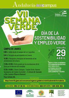 El próximo miércoles, 29 de abril, Visita al Parque deportivo de la Garza en Linares con Aula Verde - UJA  ¿Te apuntas?  Más información en: http://www10.ujaen.es/conocenos/organos-gobierno/vicinf/visita-las-instalaciones-del-parque-deportivo-de-l