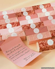 """donations instead of wedding favor. then in the gift thank you, slip in a lil info on """"what they made happen"""" with the org you choose. loooove this idea!"""