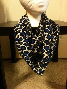 Blue Cheetah Print Infinity Scarf/Animal Print Infinity Scarf/Spring Scarf on Etsy, $10.00. Use the code winterblowout for 20% off #cheetah #animalprint #scarves #winterblowoutsale #infinityscarf #cheetahscarf