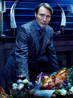 Mads Mikkelsen as Dr. Hannibal Lecter on the NBC series Hannibal (2012- )