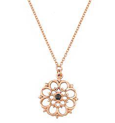 Ροζ χρυσό κολιέ με μοτίφ. Υπάρχει και σε κίτρινο χρυσό. Ένα κομψό και μοντέρνο κόσμημα για κάθε στιγμή. Wooden Jewelry, Silver Watches, Wedding Rings, Gold Necklaces, Pendant Necklace, Brilliant Diamond, Pearls, Bracelets, Chains