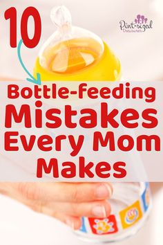 very mom makes these 10 Bottle-feeding mistakes! I definitely made these a few times! Find out the proper way to bottle-feed your baby so you don't make the same mistakes I did! A must read for every parent with a bottle-feeding baby! Raspberry Leaf Tea, Kids Fever, Preparing For Baby, Before Baby, Baby Massage, Bottle Feeding, All Family, Happy Family, Baby Hacks