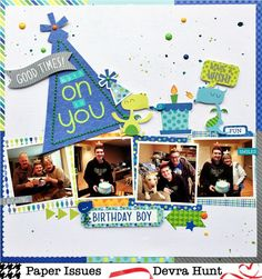used Bella Blvd Farm and Crate Paper Cool Kid Birthday Scrapbook Pages, Baby Scrapbook, Multi Photo, Crate Paper, Paper Hearts, My Mood, Scrapbooking Layouts, Scrapbooks, Boy Birthday