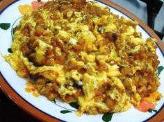 Ovos mexidos com farinheira http://grafe-e-faca.com/pt/receitas/ovos-mexidos-com-farinheira/