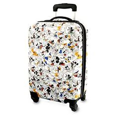 Disney Mickey Mouse and Friends Comic Strip Luggage - 20''   Disney StoreMickey Mouse and Friends Comic Strip Luggage - 20'' - Carry the funny pages wherever you go with Mickey's medium rolling suitcase clad in classic 1930s comic strip art. Functional features like hard-shell case, telescopic handle and in-line wheels will make all your travels lighthearted!