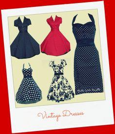 Retro Glam Fashion Style Vintage Dresses