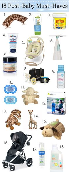 my 18 post-baby must haves for new moms! I will totally try #9 With our second baby if I can find it around here.