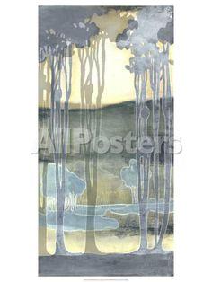 Non-Embellishd Nouveau Landscape II Landscapes Art Print - 46 x 61 cm