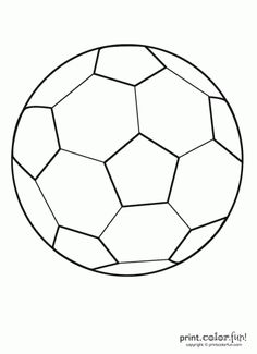 printable soccer coloring pages | Soccer ball | Print. Color. Fun! Free printables, coloring pages ...