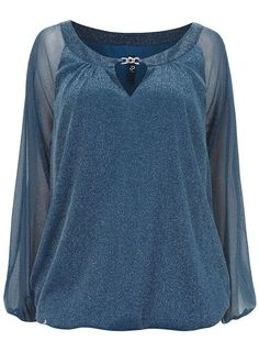 Evans Scoop Neck Party Semi Fitted Tops & Shirts for Women Bubble Hem Tops, Sparkle Party, Blue Sparkles, Party Tops, Workout Tops, Teal Blue, Evans, Scoop Neck, Tunic Tops