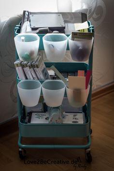 Mein neuer treuer Begleiter :-) (Raskog von Ikea) - - by Ruby Ikea Bygel, Ikea Raskog Cart, Ikea Cart, Chariot Ikea, Ikea Trolley, Craft Organization, Organizing, Sewing Rooms, Space Crafts
