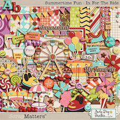 Summertime fun digital scrapbooking kit (amusement park themed)