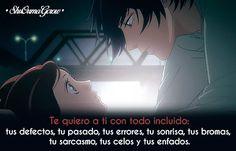 Te quiero a ti #ShuOumaGcrow #Anime #Frases_anime #frases