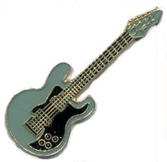 Blue Electric 6 string Guitar Band Music Lapel Hat Pin Melody Tie Tack on eBay! $5 including shipping