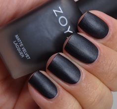 Zoya MatteVelvet Polishes: Here's Your Chance! Nail Polish Collection, Zoya Collection, Fun Nails, Nice Nails, Matte Nail Polish, Daily Nail, Beauty Hacks, Beauty Tips, Black Nails