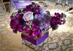 centros de mesa para bodas violetas y velas - Buscar con Google