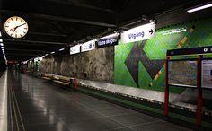 art in a subway station in Stockholm #metro #underground #urban #architecture