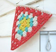 Crochet Garland Triangle Crochet Bunting Granny by KnotaGeek