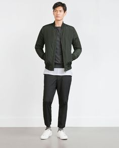 Image 1 of BOMBER JACKET WITH QUILTED LINING from Zara
