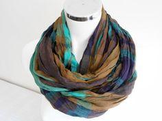 Mens scarf, Striped men scarf, Scarf for men, Men scarves, Organic flax, Brown, purple, turquoise scarf, Men's bar pattern scarf, Men gifts