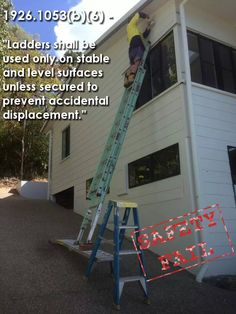 Ladder safety fail