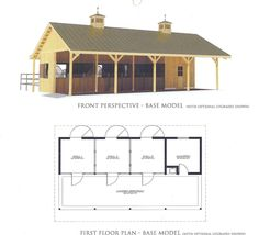 l shaped horse barn plans | CAROLINA BARNS & BUILDINGS » a Premier Horse Barn Construction ...