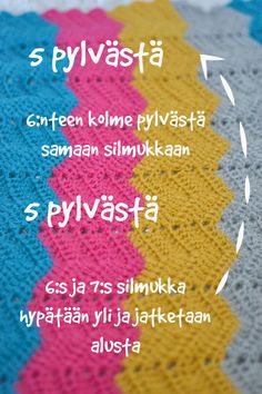 Ohje: Helppo virkattu siksak-vauvanpeitto - Santun Maja Crochet Home, Knit Crochet, Leather High Tops, Handicraft, Diy And Crafts, Sewing, Knitting, Fabric, Pattern