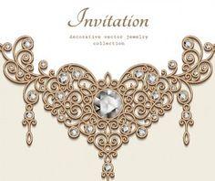 Jewelry decorative with invitation card vector 05 craft paper jewelry decorative with invitation card vector 08 stopboris Choice Image