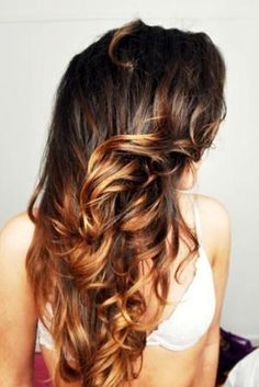 Ombre Hair Color for Brunettes | Hair Color Ideas for Brunettes Ombre by melva
