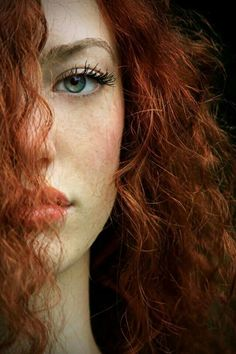 Red hair & blue eyes