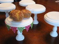 Individual Cupcake Stand tutorial