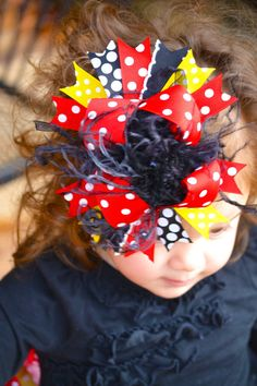 Red+Black+and+Yellow+Minnie+Mickey+Over+by+loveablebabyboutique,+$18.00