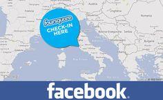 Ecco i check-in di Foursquare sulla mappa di Facebook!